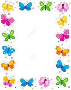 Illustration about Colorful butterflies border / frame / background. Illustration of blank, easter, colour - 24222858 Butterfly Frame, Butterfly Design, Flower Frame, Watercolor Border, Butterfly Watercolor, School Board Decoration, Mandala Sketch, Printable Border, Powerpoint Background Design
