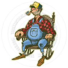 #Elderly #Man in #Rocking #Chair #Vector #Cartoon