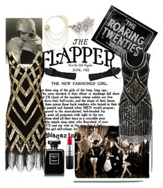 """roaring 20s"" by zebedeeraven ❤ liked on Polyvore featuring Wallace, Erickson Beamon, Wilsons Leather and MAC Cosmetics"