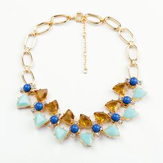 Fashion Gold Plated Sweet Butterfly Wings Crystal Necklace For Women
