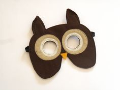 Owl Children Mask, Carnival  Animal Kids Mask,  Dress up Costume Accessory, Pretend Play Toy for Girls Boys, Toddlers