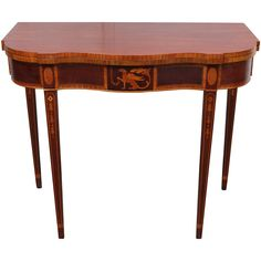 American Federal Style Mahogany Game Table | From a unique collection of antique and modern game tables at https://www.1stdibs.com/furniture/tables/game-tables/