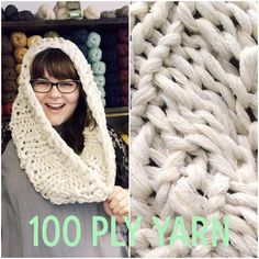 100ply yarn!!! This awesome cowl (designed by @jengeigley from her book Weekend) was knit with our Recycled hand-wound 100ply Super Chunky yarn.  on 25mm needles!! // #aucustomermakes #artequalshappy #auyarns #yarnshopday #choosewool #britiswool // From our shop account: @AUshopUK follow us for more fun peeks into our shop near Bristol UK. http://ift.tt/1SPuuxi We're the wool shop in Cleeve with the big sheep mural on the A370.