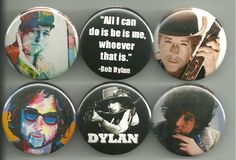 Bob Dylan 1.5 Inch Pins Buttons Badges Lot 1
