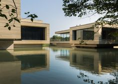 """""""Floating"""" art museum sits over a lake in eastern China."""