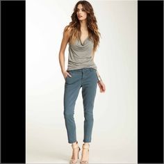 Emma Slim Leg Pant Zip fly with button closure 4 pocket construction Slim leg Approx. 9″ rise, 26.5″ inseam Imported Level 99 Pants Skinny