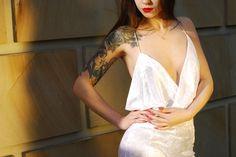 MV Clothes velvet dress white dress fashion goals