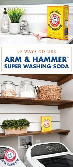 Ready for a natural cleaning tip that works like magic? Take a peek at these 10 different ways to use  ARM & HAMMER™ Super Washing Soda to discover your new favorite household hack. From kitchens and bathrooms to laundry rooms and outdoor spaces, keeping your home clean and fresh is so much easier when you don't have to lug around a bunch of different products! This is truly a must-have that gets the job done!