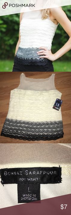 🆕NWT🆕 lace top! Lined. Feminine, girly and flirty. New tags still attached! Designer brand for Target great chic top. Fast shipping Behnaz Sarafpour Tops