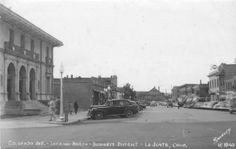 Otero County Colorado Photo Gallery Page 3 - Downtown La Junta ca. 1940s. This view is from 4th and Colorado looking north. The building on the immediate left is the Post Office.