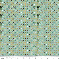 Blaugrünrotgrün und braun Cross von RaspberryCreekFabric auf Etsy, $6.99