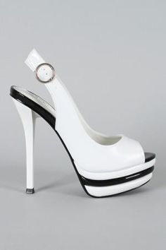 i wld do sum crazy stuff to get my hands on these ; Black And White Shoes, White Heels, Pretty Shoes, Beautiful Shoes, Hot Shoes, Shoes Heels, Dream Shoes, Shoe Collection, Designer Shoes