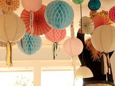 honeycomb balls and streamers