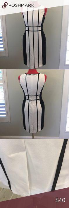Calvin Klein Dress NWT Black and White Fully Lined Dress Size 10 Calvin Klein Dresses Midi