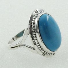 TURQUOISE STONE FASCINATING DESIGN 925 HANDMADE STERLING SILVER RING WITH BRASS #SilvexImagesIndiaPvtLtd #Statement