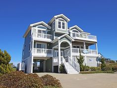 """A beautiful vacation home located in Kitty Hawk community of First Flight Ridge. You'll find lovely decor, wonderful views, loads of entertainment and a relaxing coastal ambiance. """"Wright Views"""" is exactly what you've been looking for in an Outer Banks vacation home. Spend your days playing on Kitty Hawk's gorgeous beach then return to """"Wright Views"""" for a refreshing dip in your private saltwater pool. A bubbling 6-person hot tub, outdoor speakers and tasteful outdoor lighting are sure to…"""