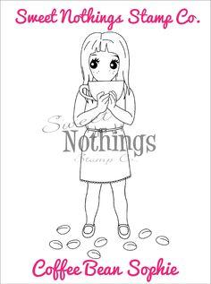 Sweet Nothings Stamp Co.- Coffee Bean Sophie