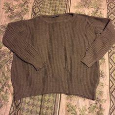 Brandy Melville Leia(?) sweater Brandy new Brandy Melville Olive green knit sweater, I think it's a Leia? No trades Brandy Melville Sweaters Crew & Scoop Necks