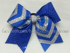 Hey, I found this really awesome Etsy listing at https://www.etsy.com/listing/193647548/cheer-hair-bow-royal-blue