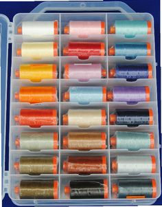Aurifil Cotton Thread Stash Builder - 48 beautiful thread colours on large spools - Choose 28wt, 40wt or 50wt