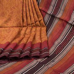 Sujata Ombre Printed Tussar Silk Saree With Striped Pallu 10008004 - profile - AVISHYA.COM
