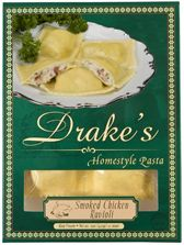 Drake's Pasta - Smoked Chicken Ravioli    The smoked flavor he is sure to enjoy!