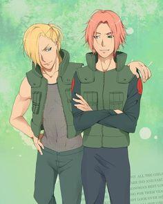 Gender bender- ino and sakura. i love gender benders but this is weird!