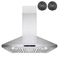 AKDY 36 in. Convertible Kitchen Island Mount Range Hood in Stainless Steel with Touch Control and Carbon Filter, Silver Island Range Hood, Range Hoods, Range Vent, Kitchen Tops, Kitchen Island, Kitchen White, Kitchen Ideas, Kitchen Reno, Cooker Hoods