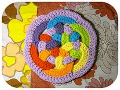 Didn't use plastic rings this time. Made a chain of about 20 (until I had it the diameter of the inside of a plastic soda ring) and slip stitched together, then I made the dc stitches over th...