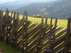 Traditional South Tyrol fence - Trentino Alto Adige region, North of Italy