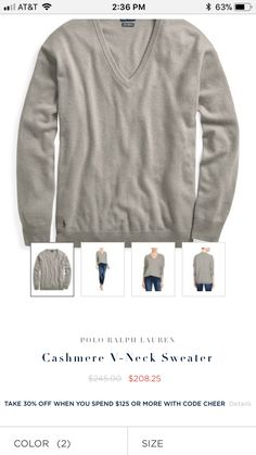 Polo Ralph Lauren washable cashmere sweater