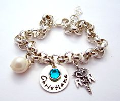 Registered Nurse RN Charm Jewelry Gift w/ Bracelet / Necklace in Sterling Silver