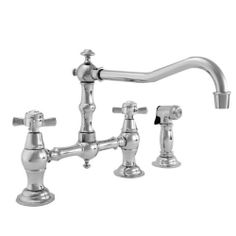 Newport Brass 945-1/50 Fairfield Double Handle Bridge Kitchen Faucet with Metal Cross Handles (Low Lead, White Newport Brass,http://www.amazon.com/dp/B002CQRE2C/ref=cm_sw_r_pi_dp_YioGtb15BM8VQ3Q1