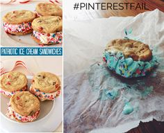 Patriotic ice cream sandwiches had this user eating them all to herself. #pinterestfail