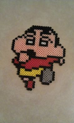 Shin Chan perler beads by Rosenal on deviantart