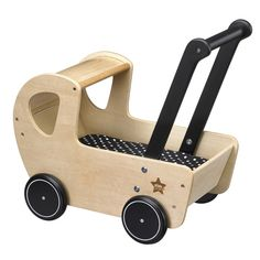 Houten Kinderwagen NEO naturel/zwart Kids Concept