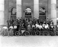 May 28, 1901    Waterford Bicycle Club group outside the Court House, Catherine Street, Waterford.