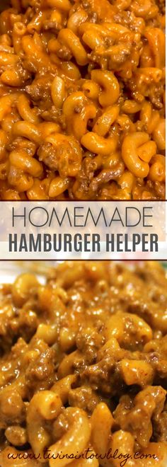 Dinner Recipes for kids Homemade Hamburger Helper Homemade hamburger helper- just as easy as the boxed stuff, but tastes way better! This beef and cheese macaroni is quick and a perfect dinner idea for families with kids! Not to mention, toddlers love it! Casserole Recipes, Pasta Recipes, Cooking Recipes, Macaroni Casserole, Vegetarian Cooking, Healthy Cooking, Seafood Recipes, Healthy Recipes, Homemade Hamburger Helper