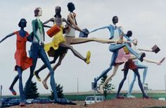 The Traveler represents a collection of men and women going who-knows-where, but with a sense of determination and adventure. Seen at the Eastern Iowa Airport. Tom Robbins, Cedar Rapids Iowa, Midwest City, Roadside Attractions, Outdoor Sculpture, U.s. States, Cheap Hotels, What To Pack, Hotel Deals