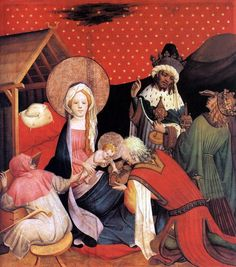 MASTER FRANCKE  Adoration of the Magi  1424  Tempera on oak, 99 x 89,3 cm  Kunsthalle, Hamburg