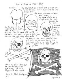 How to draw a pirate flag printable worksheet