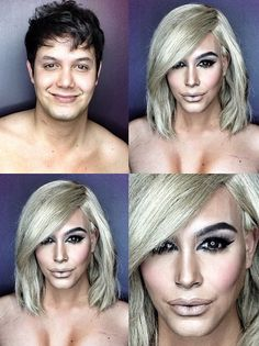Check out the mind-bending tranformations this male makeup artist makes into Kim Kardashian, Beyoncé, and more.