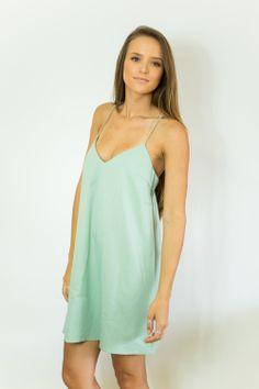 Layla Dress in Sea Green
