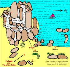 Virgin Gorda BVI The Baths Map