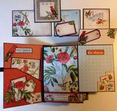 Graphic 45 Time to Flourish 8 x 5 mini album by Anne Rostad | #graphic45 #AlteredArt