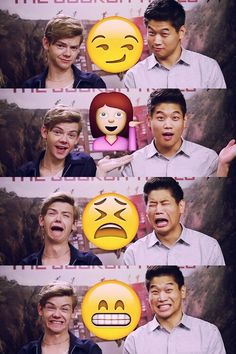 Thomas Brodie-Sangster and Ki Hong Lee