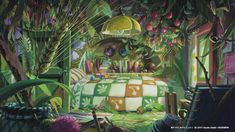 Hayao Miyazaki's Studio Ghibli releases free video call backgrounds Studio Ghibli Films, Art Studio Ghibli, Secret World Of Arrietty, The Secret World, Hayao Miyazaki, Ghibli Backgrounds, Studio Ghibli Background, Casa Anime, Video Backdrops