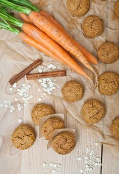 Healthy Deserts, Healthy Meals For Kids, Healthy Sweets, Healthy Baking, Healthy Snacks, Healthy Recipes, Czech Recipes, Sweet Cookies, Carrot Cookies