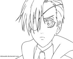 black butler coloring pages and chibi on pinterest