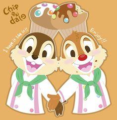 Patissier Chip 'n Dale by Ahyuck.deviantart.com